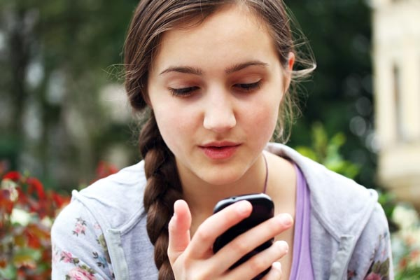 teen on phone