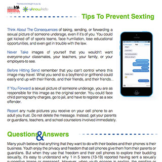 home  information safety sexting