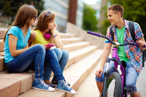 teens at school