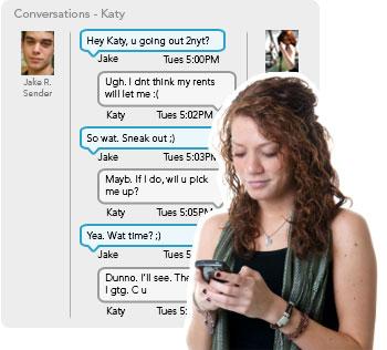 Parental text monitoring