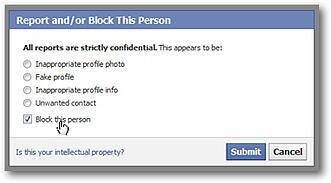 Blocking Friend on Facebook