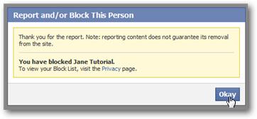 Blocking Friends on Facebook