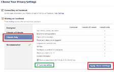 Facebook account settings privacy friends only