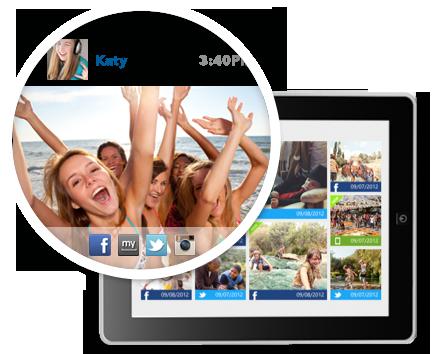 Social network image monitoring