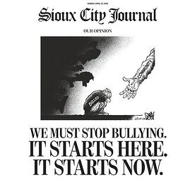 The Sioux City Journal Front Page News Anti-Bullying