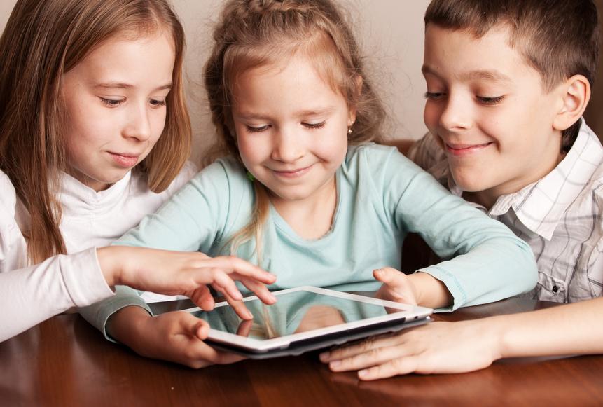 kids on tablets